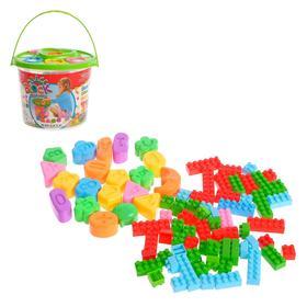 Конструктор для малышей «Забавные зверята», в ведре, 84 детали, цвета МИКС Ош