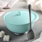 Сахарница с ложкой «Очарование», цвета МИКС