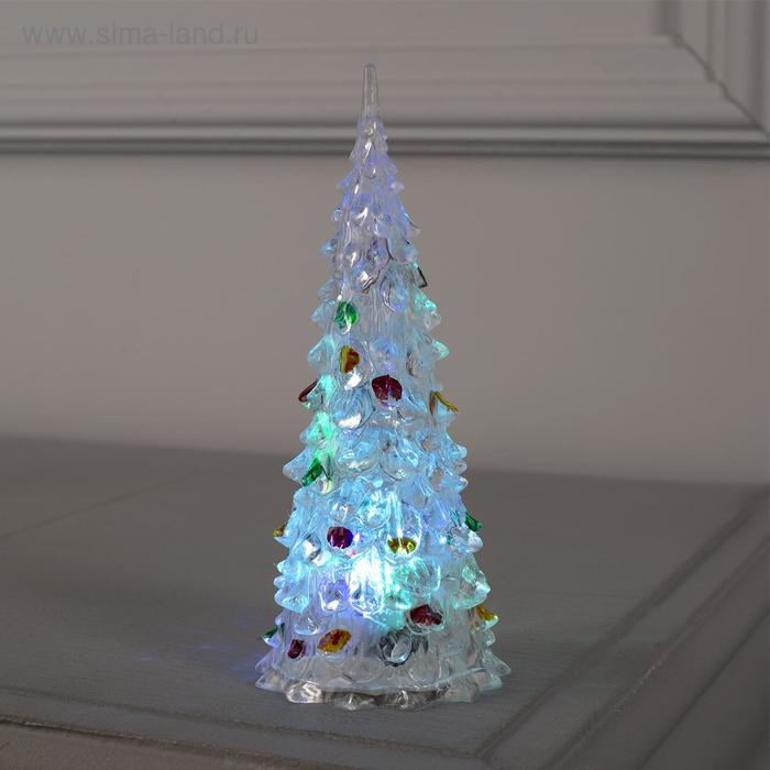 """Игрушка световая """"Ёлочка радуга"""" (батарейки в комплекте) 17 см, 1 LED, RGB"""