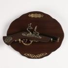 Сувенирный мушкетон на планшете, 30*15см, с резными элементами и фигурной накладкой