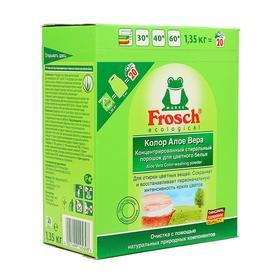 Концентрированный стиральный порошок Frosch «Алое Вера», для цветного белья, 1,35 кг