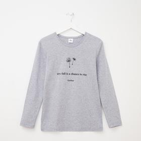 Лонгслив женский, цвет серый меланж, размер 56 Ош