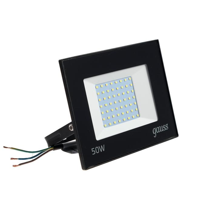 Прожектор светодиодный Gauss Elementary, 50 Вт, IP65, 6500 К, 3510 Лм, холодный белый
