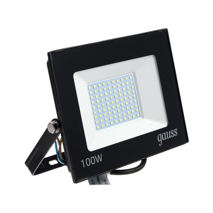 Прожектор светодиодный Gauss Elementary, 100 Вт, IP65, 6500 К, 6600 Лм, холодный белый