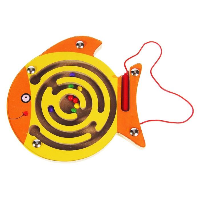 Лабиринт магнитный малый «Золотая рыбка»