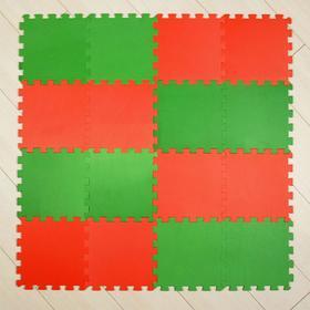 Мягкий пол универсальный, красно-зелёный