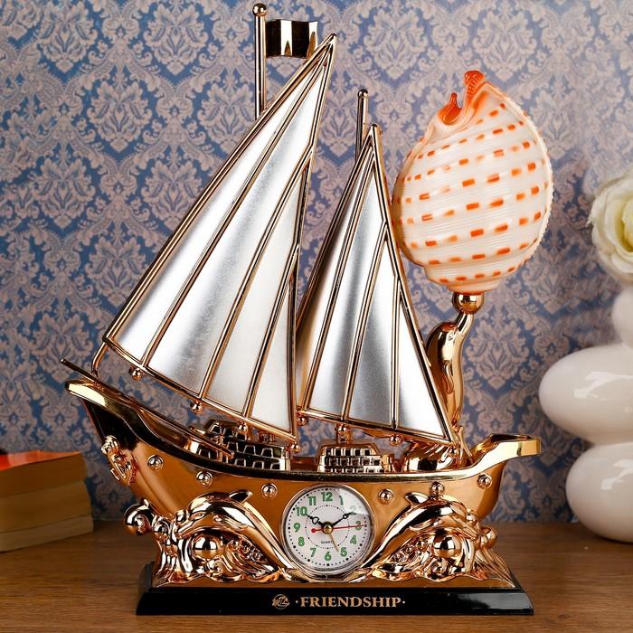 """Часы будильник """"Дружба"""" с светильником, 220v, 40х33 см"""