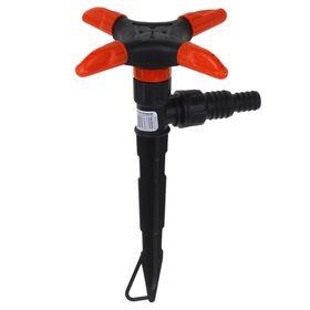 Распылитель 4-лепестковый, штуцер под шланги 1/2'-3/4', пика, пластик, «Жук» Ош
