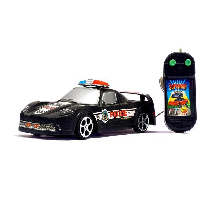 """Машина """"Полиция"""", на дистанционном управлении, работает от батареек, МИКС"""