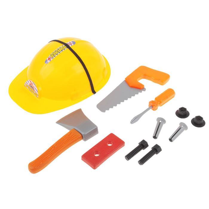 Набор инструментов Юный строитель, с каской