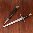 Сув. изд. кортик классический с витой рукоятью и ножнами 35 см металл,кожа