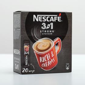 Кофе растворимый Nescafe 3 в 1  Крепкий кофе растворимый, 13 г х 20 порций