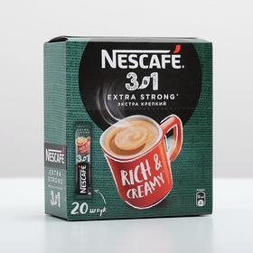 Кофе растворимый Nescafe 3 в 1  Микс Нескафе 3 в 1 Экстра Стронг, 13 г х 20 порций