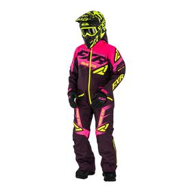 Комбинезон FXR Boost с утеплителем, женский, Фиолетовый/Розовый/Желтый, р-р 2XS-XS, детский   648099 Ош