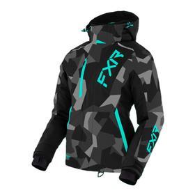 Куртка FXR Pulse с утеплителем, 210227-0752-08, женский, цвет Серый/Черный/Голубой, размер M   64812 Ош