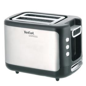 Тостер Tefal TT365031, 850 Вт, 7 режимов прожарки, 2 тоста, серебристо-чёрный