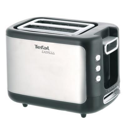 Тостер Tefal TT365031, 850 Вт, 7 режимов прожарки, 2 тоста, серебристо-чёрный - Фото 1
