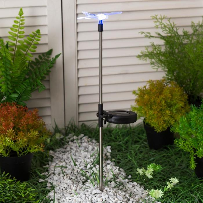 """Фонарь садовый на солнечной батарее """"Старт"""" Стрекоза, 1 светодиод"""