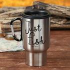 """Термостакан с карабином """"Just fish"""", 450 мл, сохраняет тепло 4 ч"""