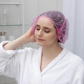 Набор шапочек для душа, 3 шт, полиэтилен, цвет МИКС Ош