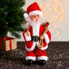Дед Мороз, с фонариком, с подсветкой, без музыки, двигается