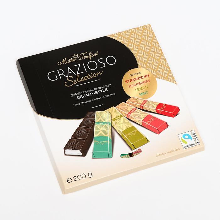 Ассорти шоколадных мини-батончиков Grazioso Selection Cremy-Style, 200 г