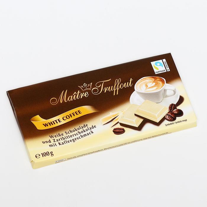 Белый шоколад и темный шоколад со вкусом кофе, 100 г