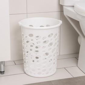 """Корзина для мусора 12 л """"Сорренто"""", цвет белый"""