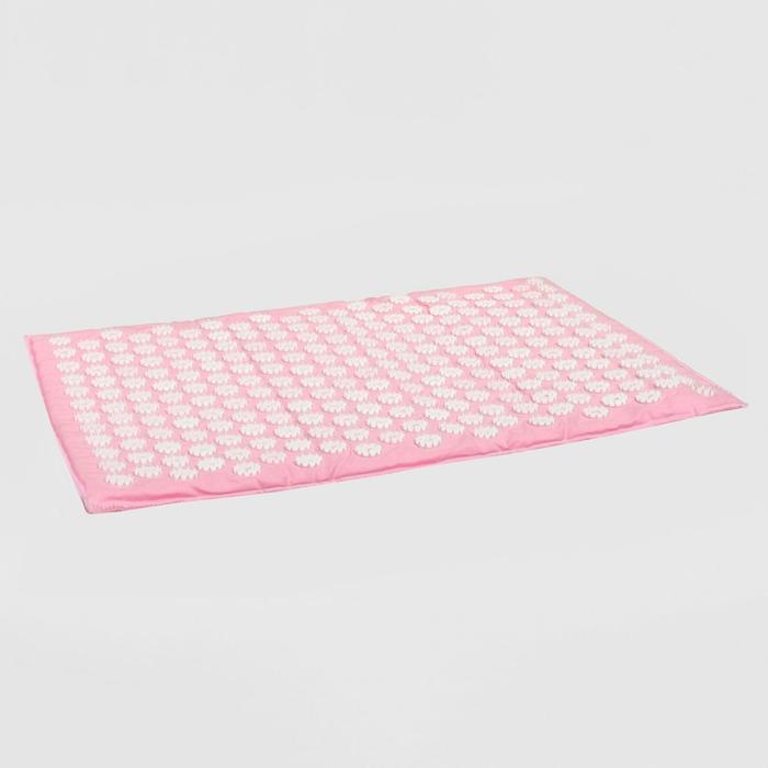 Аппликатор игольчатый «Большой коврик» на мягкой подложке, 242 колючки, розовый, 41х60 см