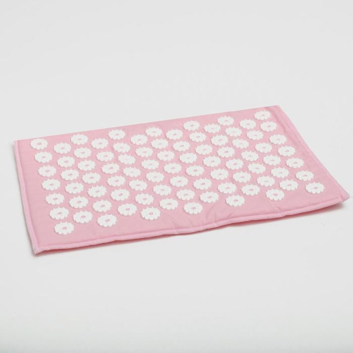 Аппликатор игольчатый «Коврик» на мягкой подложке, 85 колючек, розовый, 25х40 см