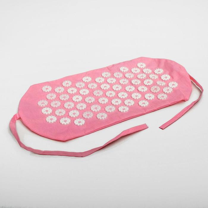 Аппликатор игольчатый «Повязка», 61 колючка, розовый, 25х40 см