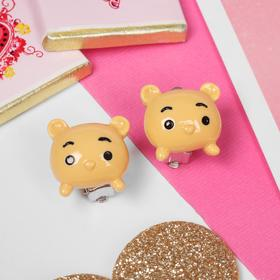 Клипсы детские 'Выбражулька' мишки, цвет жёлтый Ош