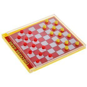 Игра настольная 'Шашки с кубиками', упаковка стилизована под коробку для CD-диска Ош