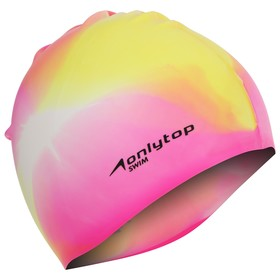 Шапочка для бассейна взрослая, безразмерная, цвета МИКС