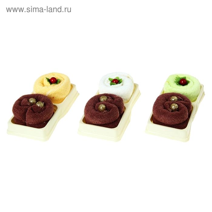 Набор сувенирных полотенец Кексы 20*20 см - 2 шт МИКС