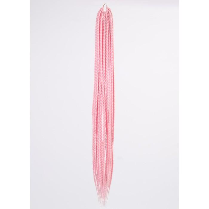 Афрокосы, 60 см, 15 прядей (CE), цвет светло-розовый
