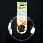 Крышка для сковороды и кастрюли стеклянная, d=22 см, прессованная, низкая, пластиковая ручка - Фото 5