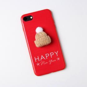 Чехол для телефона iPhone 7,8 «Снежная сказка», с дополнительным элементом 6,8 х 14 см