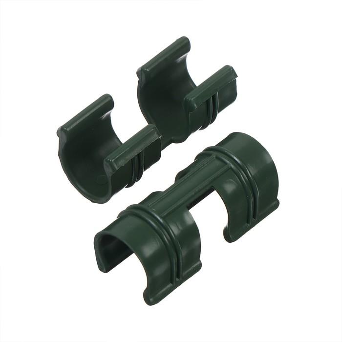 Зажим для крепления укрывного материала, d = 20 мм, цвет белый, набор 10 шт.