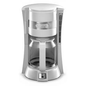 Кофеварка DeLonghi ICM 15210.1 W, капельная, 900 Вт, 1.25 л, белая