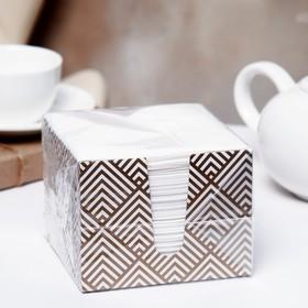 Салфетки бумажные «Перышко», 2 слоя, 24*24 см, 85 шт.