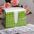 Салфетки бумажные зелёные «Перышко. В горошек», 2 слоя, 24*24 см, 85 шт. - Фото 4