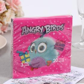 "Салфетки бумажные Angry Birds: Hatchlings ""Коллекция"" 33х33 3сл 20л"