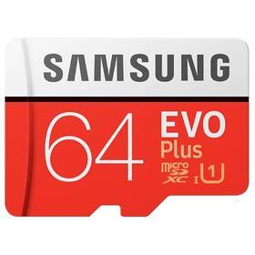 Карта памяти Samsung MB-MC64HA/RU EVO PLUS microSDXC, 64Гб, класс 10, с адаптером SD