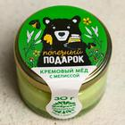 Кремовый мёд с мелиссой «Полезный подарок», 30 г.