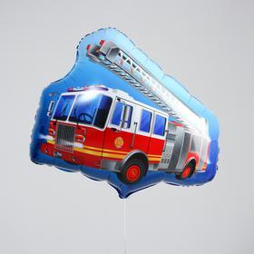 """Шар фольгированный  фигура 26"""" """"Пожарная машина""""."""