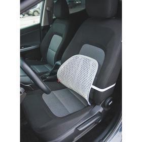 Ортопедическая спинка на сиденье упругая на сиденье 38х39 см, серый Ош