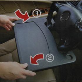 Столик универсальный под руль, пластиковый, черный Ош