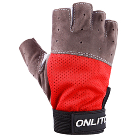 Перчатки спортивные, размер M, цвет красный Ош