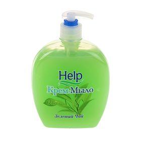 """Жидкое мыло Help """"Зеленый чай"""" с дозатором, 500 гр"""